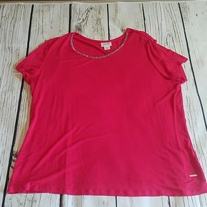 Bright coral short sleeve t shirt